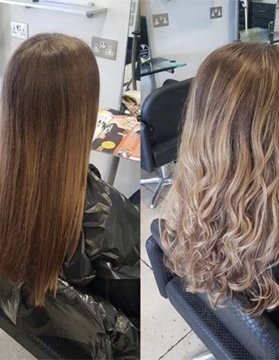 Dark blond Balayage