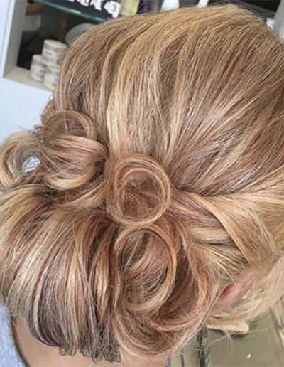 Wedding hair up by Emily