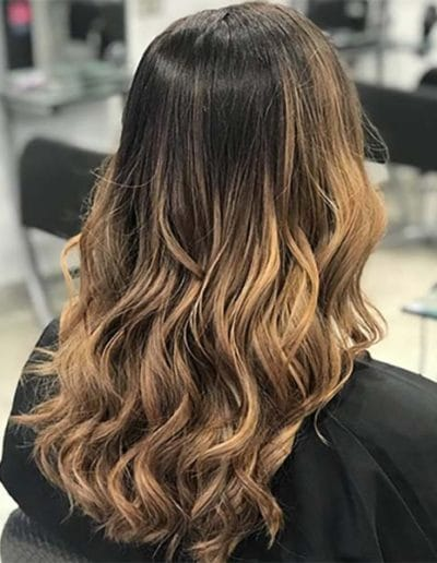 Warm balayage by Lydia