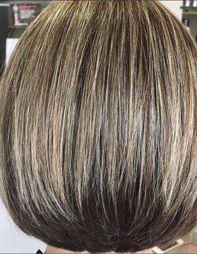Sleek bob hair style
