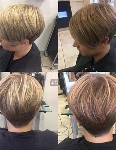 short hair style with highlights