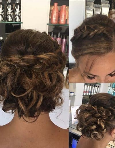 Hairup for wedding with a plait